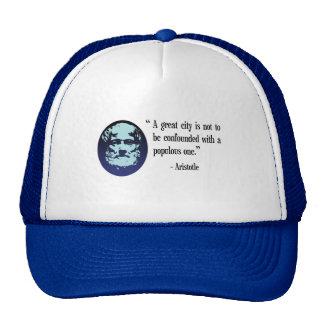 Philosopher Aristotle. A great city quotation cap Trucker Hat