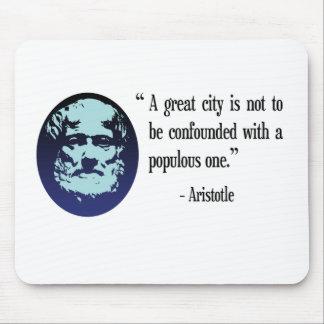 Philosopher Aristotle. A great city quote Mousepad