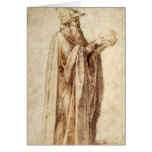 Philosopher by Michelangelo, Vintage Renaissance Greeting Card