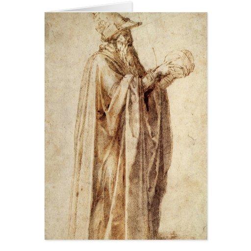 Philosopher by Michelangelo, Vintage Renaissance Cards
