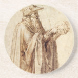 Philosopher by Michelangelo, Vintage Renaissance Coaster