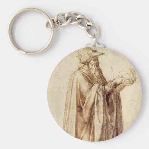 Philosopher by Michelangelo, Vintage Renaissance Key Chains