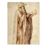 Philosopher by Michelangelo, Vintage Renaissance Postcard