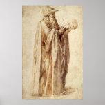 Philosopher by Michelangelo, Vintage Renaissance Posters