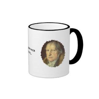 Philosopher Georg Hegel Ringer Coffee Mug