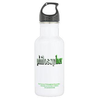 philosopher green stainless steel water bottle