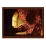 Philosopher In Meditation. By Rembrandt Van Rijn Post Card