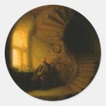 Philosopher in Meditation Sticker