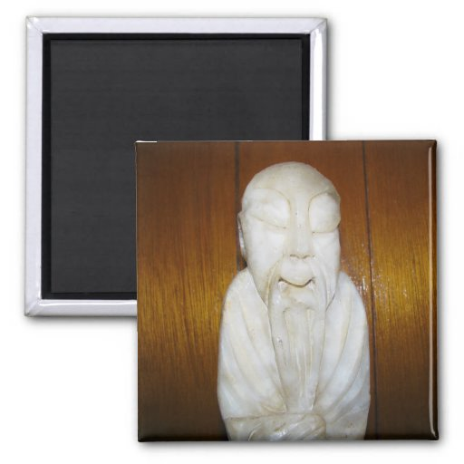 Philosopher Monk 2 Inch Square Magnet