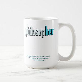 philosopher mug blue