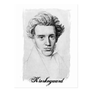 Philosopher Soren Kierkegaard Postcard