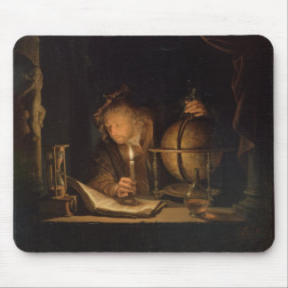 Philosopher Studying by Candlelight Mouse Pad