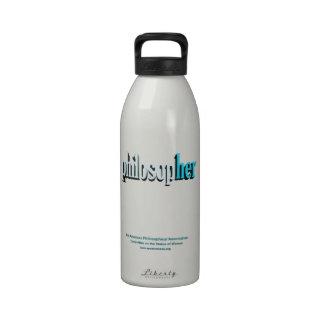 philosopher water bottle blue