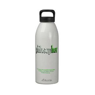 philosopher water bottle green