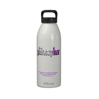 philosopher water bottle lilac