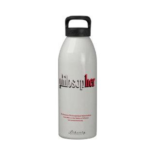 philosopher water bottle red