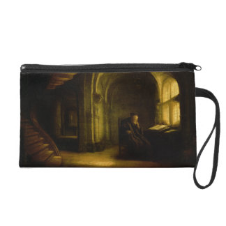 Philosopher with an Open Book 1625-7 oil on pane Wristlet Purse