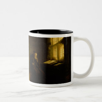Philosopher with an Open Book, 1625-7 (oil on pane Two-Tone Coffee Mug