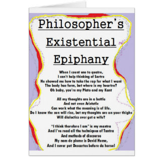 Philosopher's Existential Epiphany card