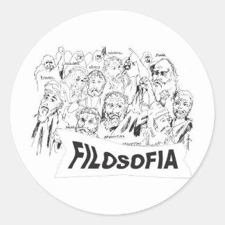 PHILOSOPHERS Plato Aristotle euclides Socrates Classic Round Sticker