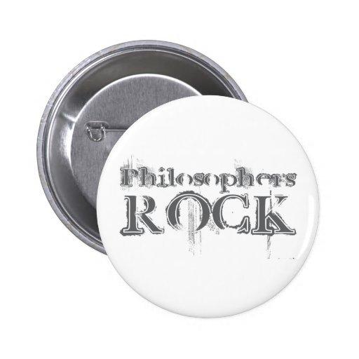 Philosophers Rock Pinback Button