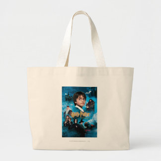 Philosopher's Stone Poster Large Tote Bag