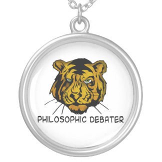 Philosophic Debater Round Pendant Necklace