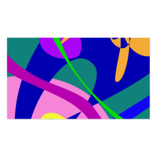 Philosophical Man Digital Abstract Pattern Business Card