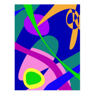 Philosophical Man Digital Abstract Pattern Post Cards