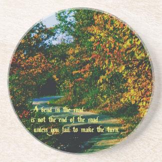Philosophical quote coaster