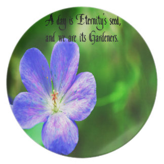 Philosophical quote dinner plate