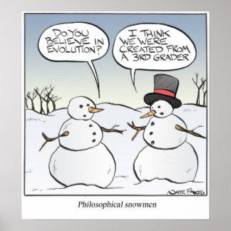 Philosophical Snowen Print
