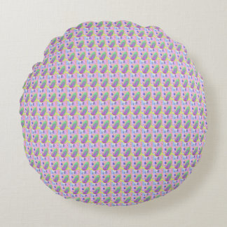 Philosophical Tree, Flower and Fruit Round Pillow