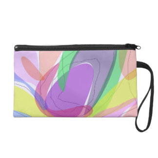 Philosophical Tree, Flower and Fruit Wristlet Purse