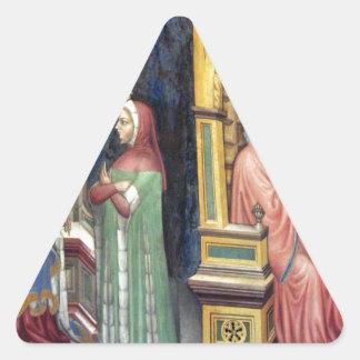 Philosophy and Grammar by Gentile da Fabriano Triangle Sticker