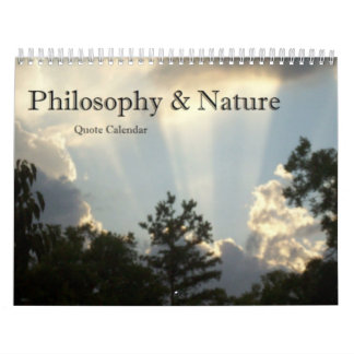 Philosophy and Nature Calendar