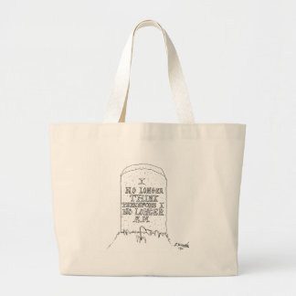 Philosophy Cartoon 1413 Large Tote Bag