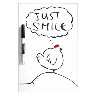 Philosophy Chicken - just smile Dry-Erase Board