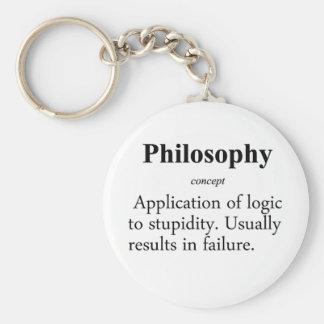 Philosophy Definition Basic Round Button Keychain