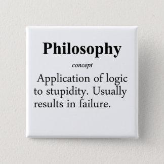 Philosophy Definition Pinback Button
