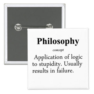Philosophy Definition Pinback Button