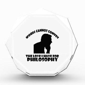 Philosophy designs acrylic award