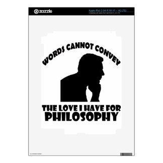 Philosophy designs iPad 3 skins