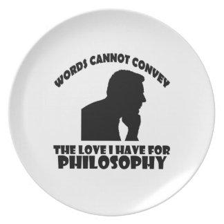 Philosophy designs melamine plate