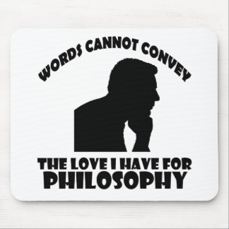 Philosophy designs mouse pad