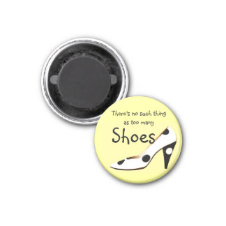 Philosophy for Girls Who Love Shoes 1 Inch Round Magnet