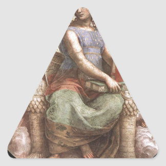 Philosophy from 'Stanza della Segnatura' Raphael Triangle Sticker