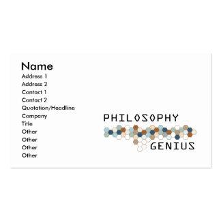 Philosophy Genius Business Card