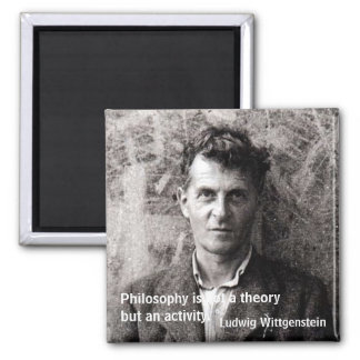 Philosophy is not a theory but an... 2 inch square magnet