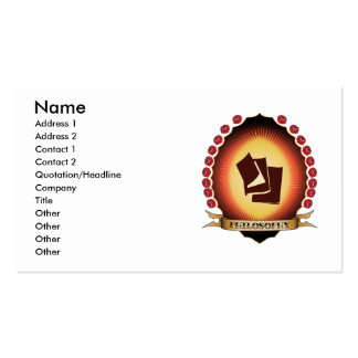 Philosophy Mandorla Business Card